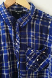 Niebieska koszula w kratę TopSecret 38...
