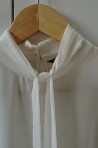 Biała koszula mgiełka z wiązaniem ZARA M...