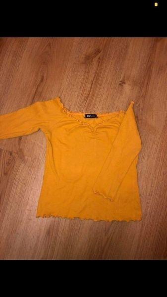 Bluzki Musztardowa bluzeczka