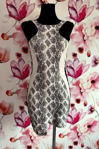 river island sukienka ołówkowa modny wzór węża skóra hit 34 36...