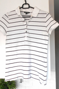 Ralph Lauren koszulka polo biała paski