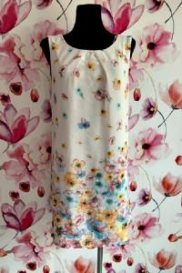 atmosphere sukienka luźny fason modny wzór kwiaty hit 40 L...