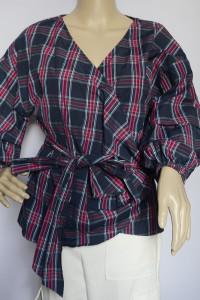 Koszula Kopertowa Bluzka Kratka Hampton Republic M 38...