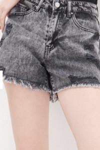 Nowe spodenki jeansowe szorty z dziurami house