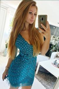 Sukienka Asos cekiny zdobiona niebieska frędzle cekiny 38 M...