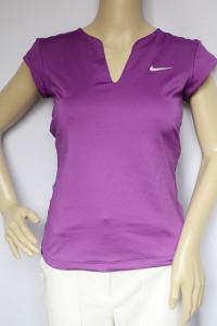 Koszulka Sportowa Nike Dri Fit S 36 Fioletowa Bluzka