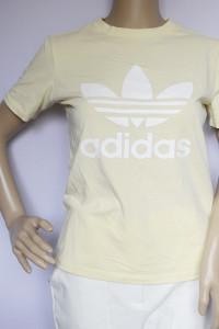 Bluzka Żółta Adidas S 36 Koszulka T Shirt...