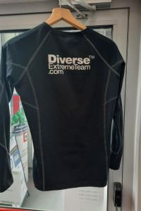 Ocieplana bluza na rower jogging Diverse