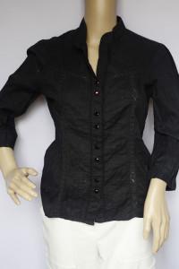 Bluzka Koszula Czarna Vila Ażurowa M 38 Elegancka...