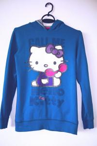 Niebieska bluza Hello Kitty emo pastel goth turkusowa...