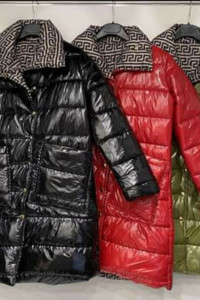 Lakierowany dwustronny płaszcz kurtka