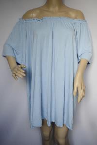 Sukienka Niebieska Oversize H&M Hiszpanka L 40 Odkryte Ramiona...