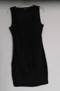 Reserved 38 M mała czarna sukienka mini frędzle...