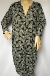 Sukienka Oversize H&M Ananasy Luzna L 40 Ananas Czarna...