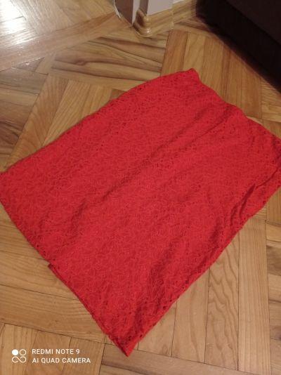 Spódnice Czerwona koronkowa spódnica