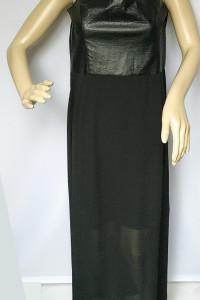 Sukienka NOWA XXL 44 Czarna Odkryte Ramiona H&M Skóra...