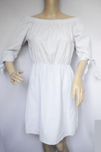 Sukienka Błękitna H&M M 38 Hiszpanka Odkryte Ramiona Niebieska...