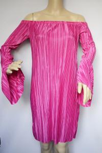 Sukienka NLY Trend Plisowana Plisa Różowa L 40 NOWA...