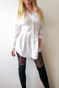 Koszula biała sukienka