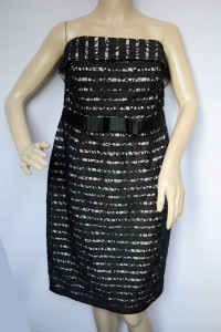 Sukienka Odkryte Ramiona NOWA Koronka 46 Little...