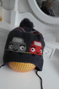 Auta czapka zimowa ciepła chłopięca 98 104