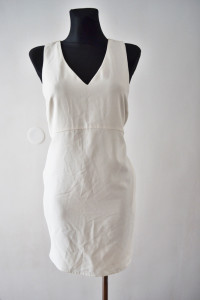 Sukienka biała ecru Reserved prosta wesele bal S
