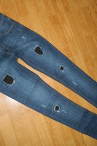 super skinny spodnie rurki łaty roz 32...