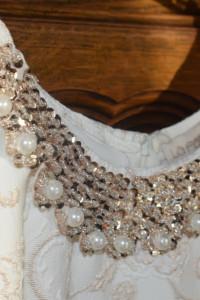 Sukienka zezłota nicią raz założona perełki 40 L 38