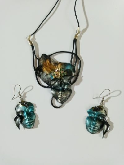 Handmade komplet biżuterii handmade rękodzieło