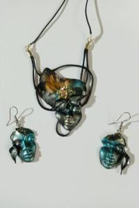 komplet biżuterii handmade rękodzieło