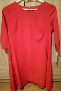 Śliczna sukienka czerwona karko