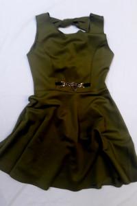 Oliwkowa sukienka L...