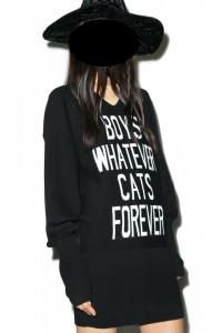 KillStar Boy cats ladies dzianinowa sukienka XL