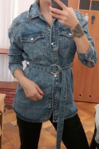 Jeansowa koszula wierzchnia Bershka oversize kurtka wierzchnia ...