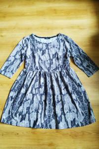 Popielata sukienka wąż George 14 42 XL...