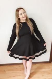 A039 Czarna Sukienka 3XL Plus Size...