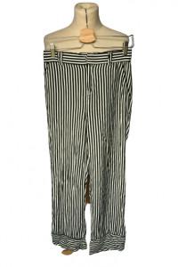 Spodnie Paski Mango S 36 Proste Nogawki Marynarskie...