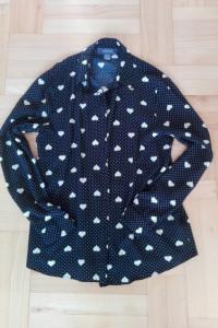 Koszula czarna w serduszka i groszki M 38 S 36 primark