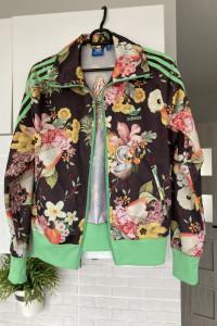 Adidas bluza rozpinana kwiaty retro originals