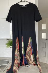 Zara sukienka oversize tshirt wzory print