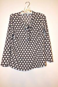 Bluzka damska w kolorowe geometryczne wzory rąby r 40...