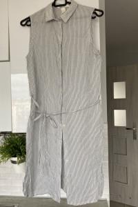 HM koszulowa sukienka prążkowana...