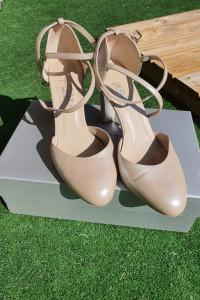 Skórzane buty ślubne KOTYL 39 perła lico