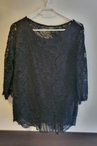 Nowa czarna koronkowa bluzka S M...