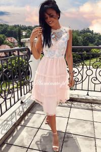 Brzoskwiniowa piękna suknia Illuminate S