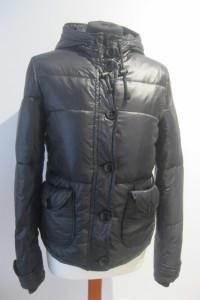 kurtka puchowa H&M 38 błyszcząca czarna pikowana