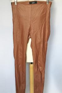 Spodnie Tregginsy Brązowe Woskowane Object S 36 Rurki...