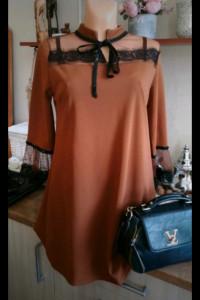Sukienka ruda karmelowa...