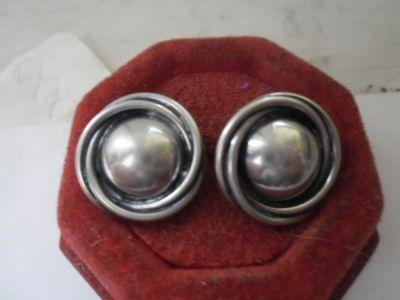 Kolczyki Srebrne kolczyki masywne oplecione kopułki cz kompletu ponad 8 gr