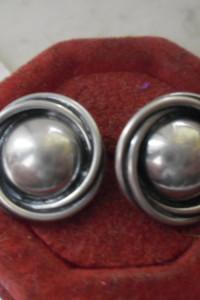 Srebrne kolczyki masywne oplecione kopułki cz kompletu ponad 8 ...
